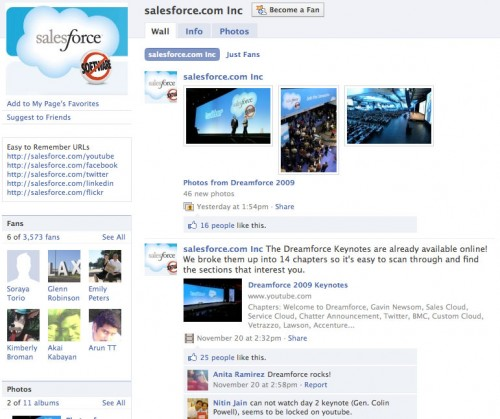 Facebook Salesforce