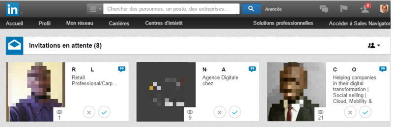LinkedIn Invitations avant
